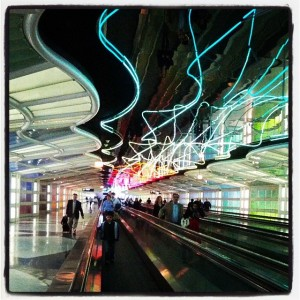 Light tunnel at ORD